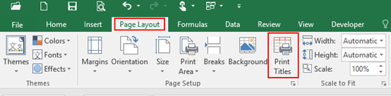How to Repeat a Print Title on Each Page in Microsoft Excel