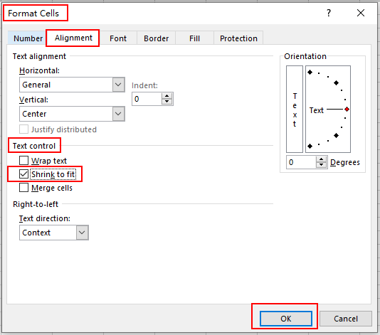 How to Shrink the Text in Excel Cells to Fit the Column Width