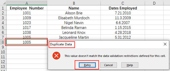How to Prevent Entering Duplicate Data in Microsoft Excel