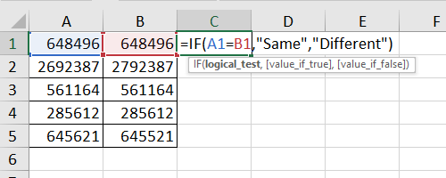 Enter the formula of IF function