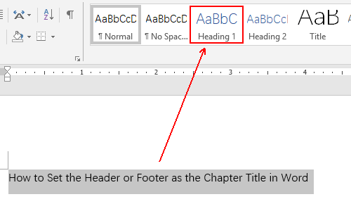 How to Set the Header or Footer as the Chapter Title in Word