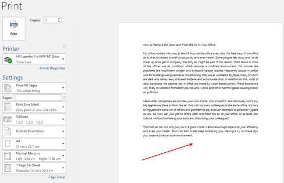 How to Print Out Watermark along with the Word Document