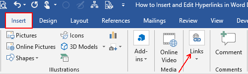 How to Insert and Edit Hyperlinks in Microsoft Word Documents