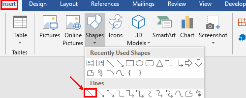 How to Create a Clipping Line in Microsoft Word