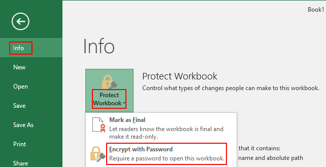 How to Encrypt Your Excel Workbook with Password