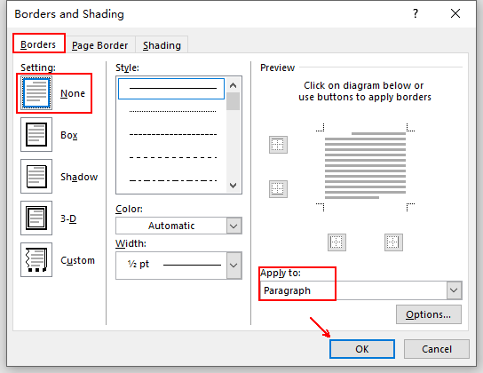 How to Remove the Horizontal Line in the Page Header of Word
