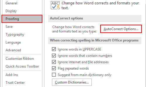 How to Turn on or Turn off Automatic Hyperlinks in Word
