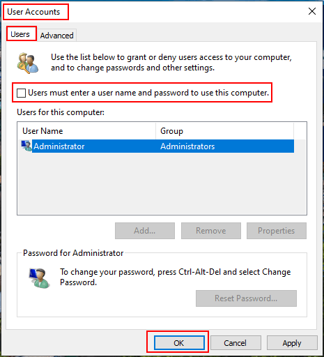 How to Remove Login Password in Windows 10