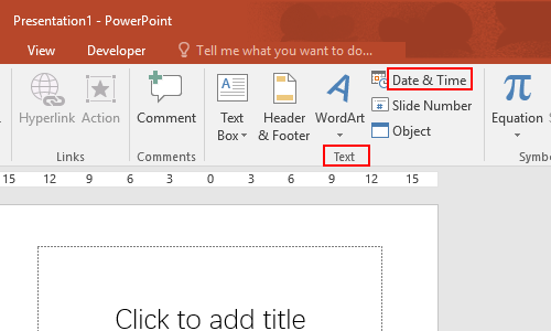 How to Insert Current Date and Time in PowerPoint