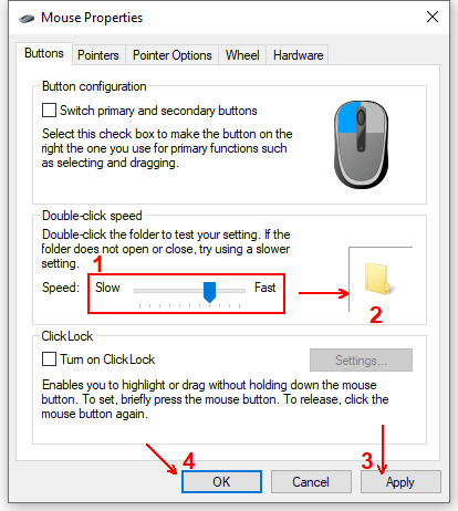 How to Adjust the Double Click Speed in Windows 10