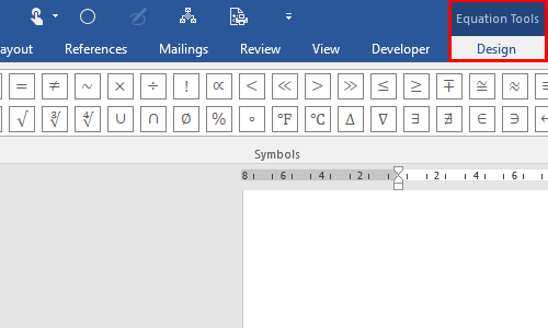How to Insert Mathematical Formulas and Symbols in Word