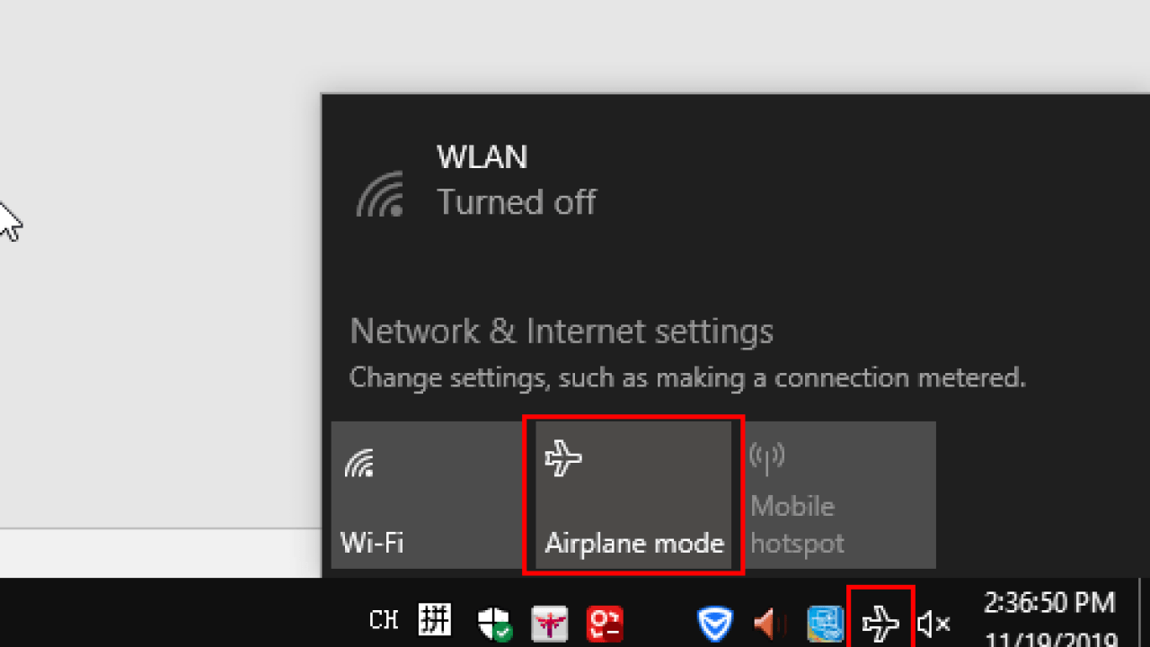 How To Turn On Or Off Airplane Mode On Windows 10 My Microsoft Office Tips