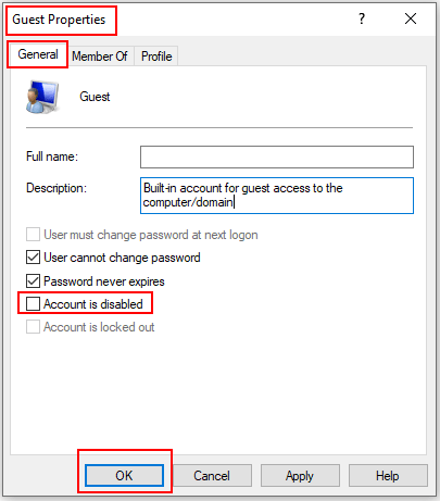 How to Disable Guest Account in Windows 10