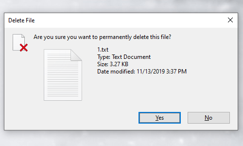 How to Permanently Delete an Unwanted File in Windows 10