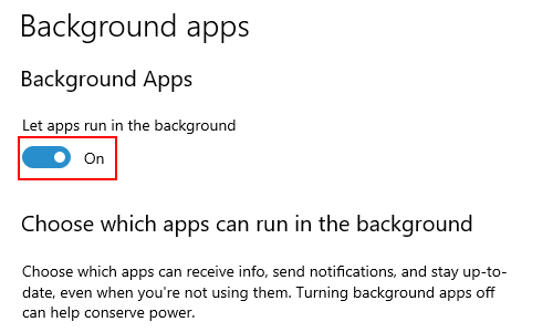 How to Allow or Disallow Background Apps in Windows 10