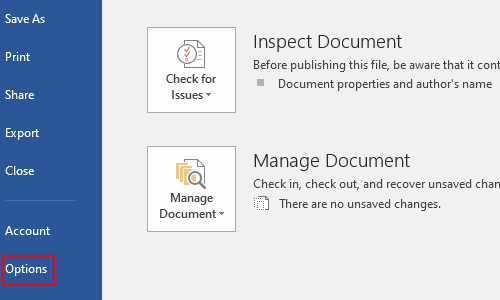How to Disable Recent Documents List in Microsoft Word