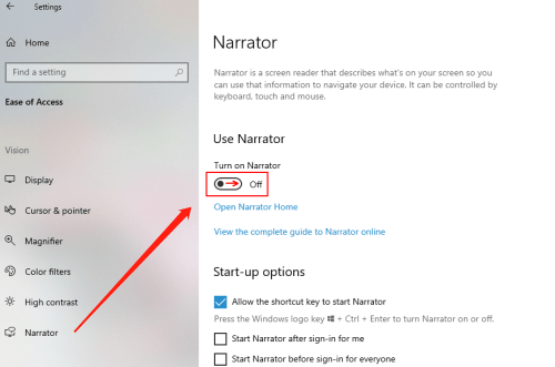 How to Enable and Customize the Narrator in Windows 10