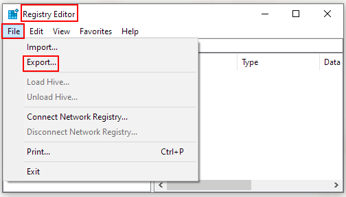 How to Export Registry File on Windows 10