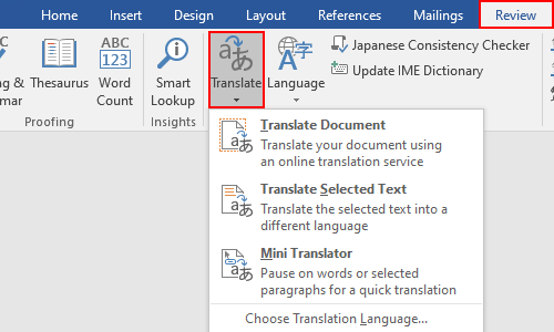 How to Translate a Word Document with the Built-in Feature