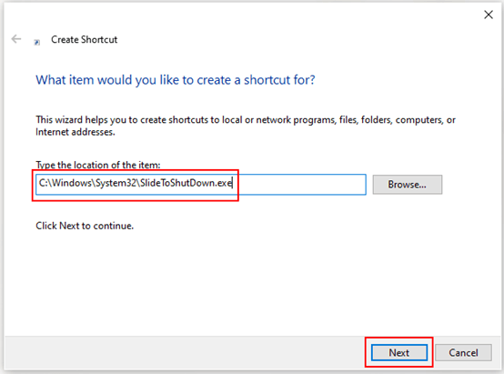 How to Create Slide to Shut Down Shortcut on Windows 10