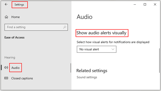 How to Enable Visual Alerts for Notifications on Windows 10