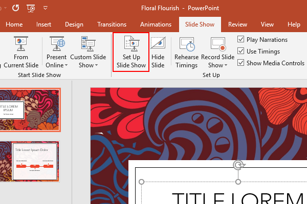 How to Loop a Microsoft PowerPoint Slide Show Continuously
