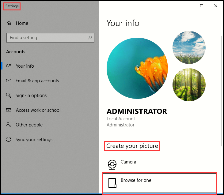 How to Delete Account Picture in Windows 10