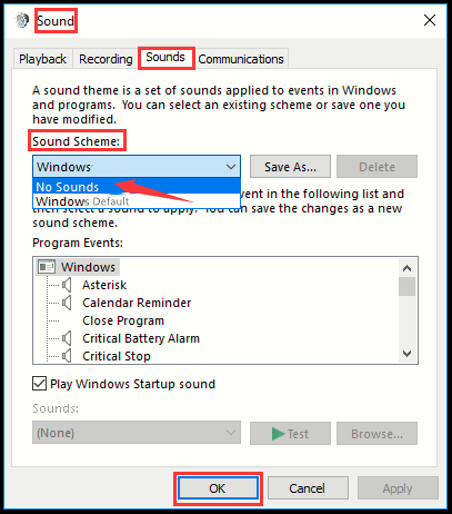 How to Disable System Sounds in Windows 10