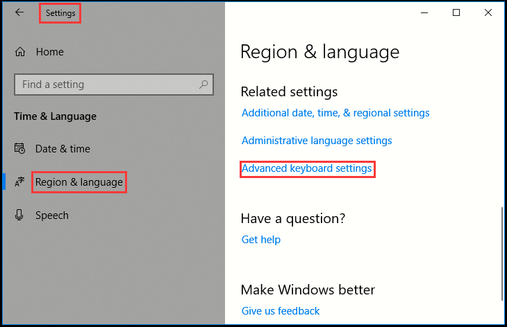 Windows 10: Change HotKeys to Switch Input Language
