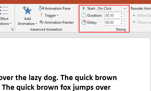 How to Change the Color of Specific Text when Clicking in PPT