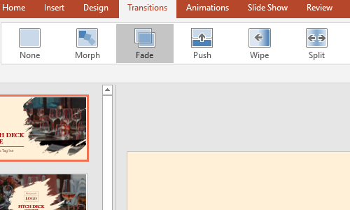How to Change the Transitions of Microsoft PowerPoint Slides