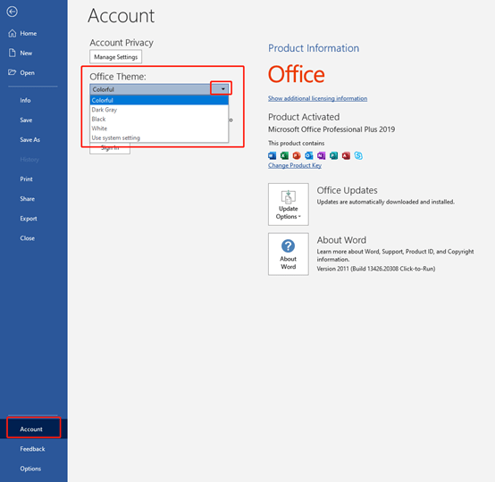 How to Change Microsoft Office Theme Color