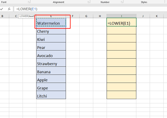 How to Change The First Letter to Lowercase in Microsoft Excel