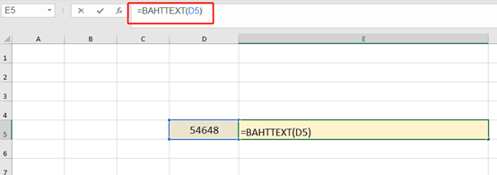 How to use the BAHTTEXT Function in Excel?