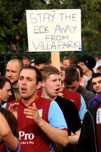 McLeish protest villa park