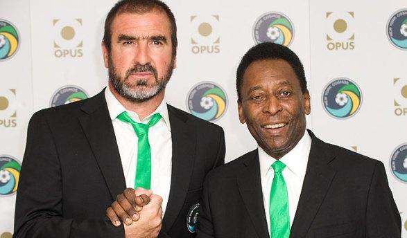 New York Cosmos Eric Cantona Pele