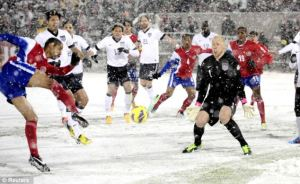 Guzan has never conceded in the snow