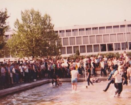 Villa fans in Fountain Frolics - Rotterdam 1982