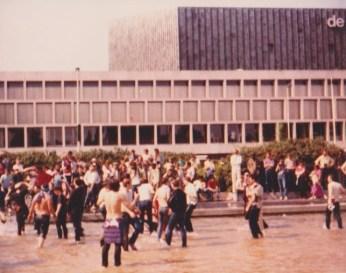 Villa fans take over Rotterdam 1982