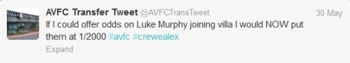 Belhanda Aston Villa ITK Murphy bet