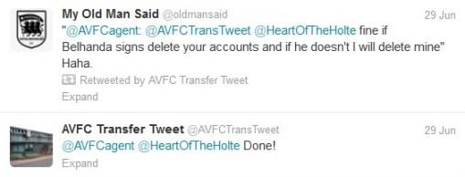 Belhanda Aston Villa ITK delete