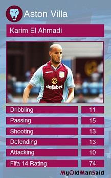 aston villa midfield stats