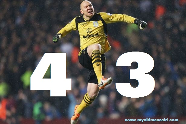 brad guzan celebration