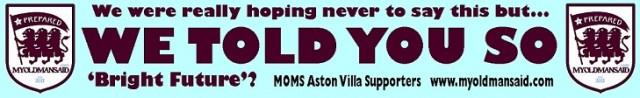 aston villa fan advert