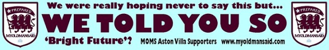 aston villa fan advert