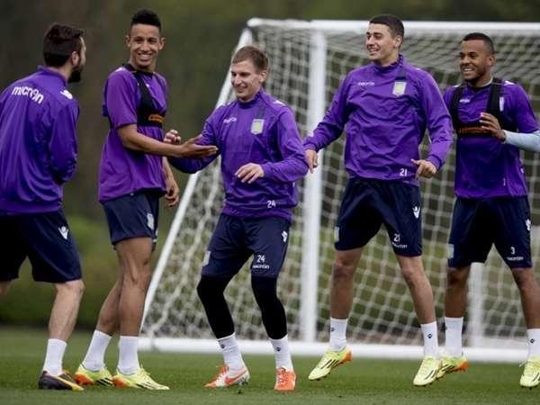 aston villa blog players laughing