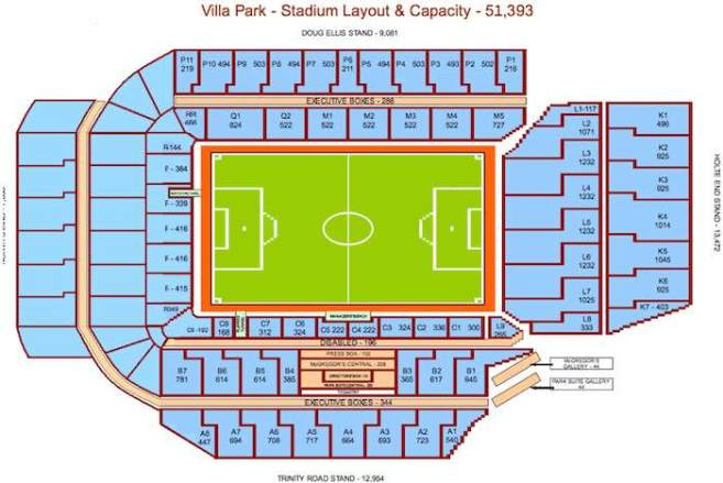 villa park increased capacity