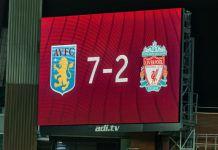 Aston Villa 7 Liverpool 2 Scoreboard picture