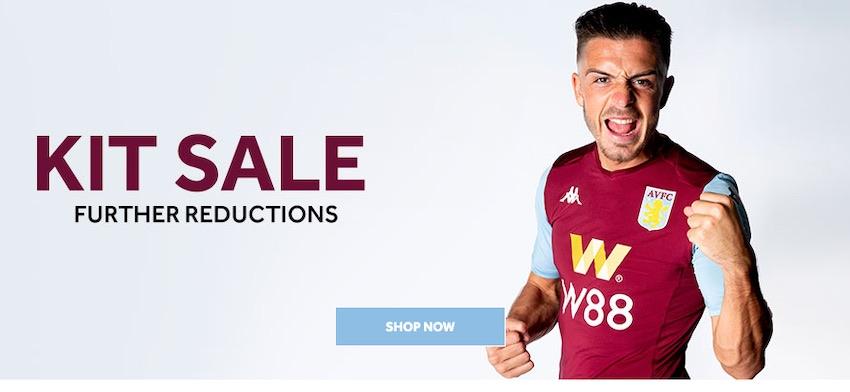 Aston Villa shirt sale