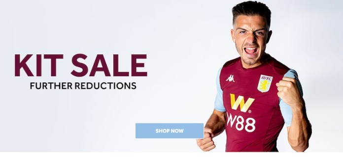 Aston Villa shirt sale